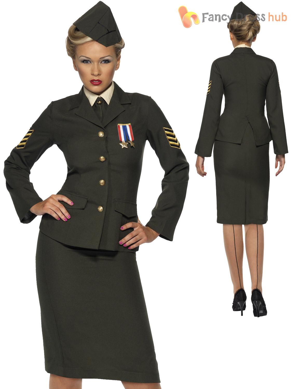 La S Wartime Ww2 Army Officer Costume Adult Uniform