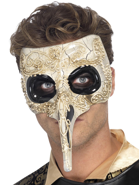Mens Gothic Venetian Eye Face Mask Evil Halloween