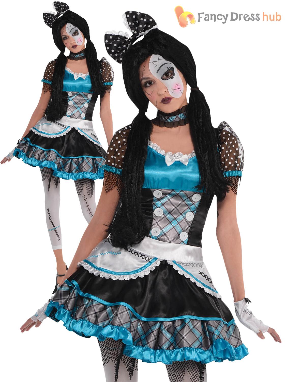 Creepy Doll Halloween Costumes Girls