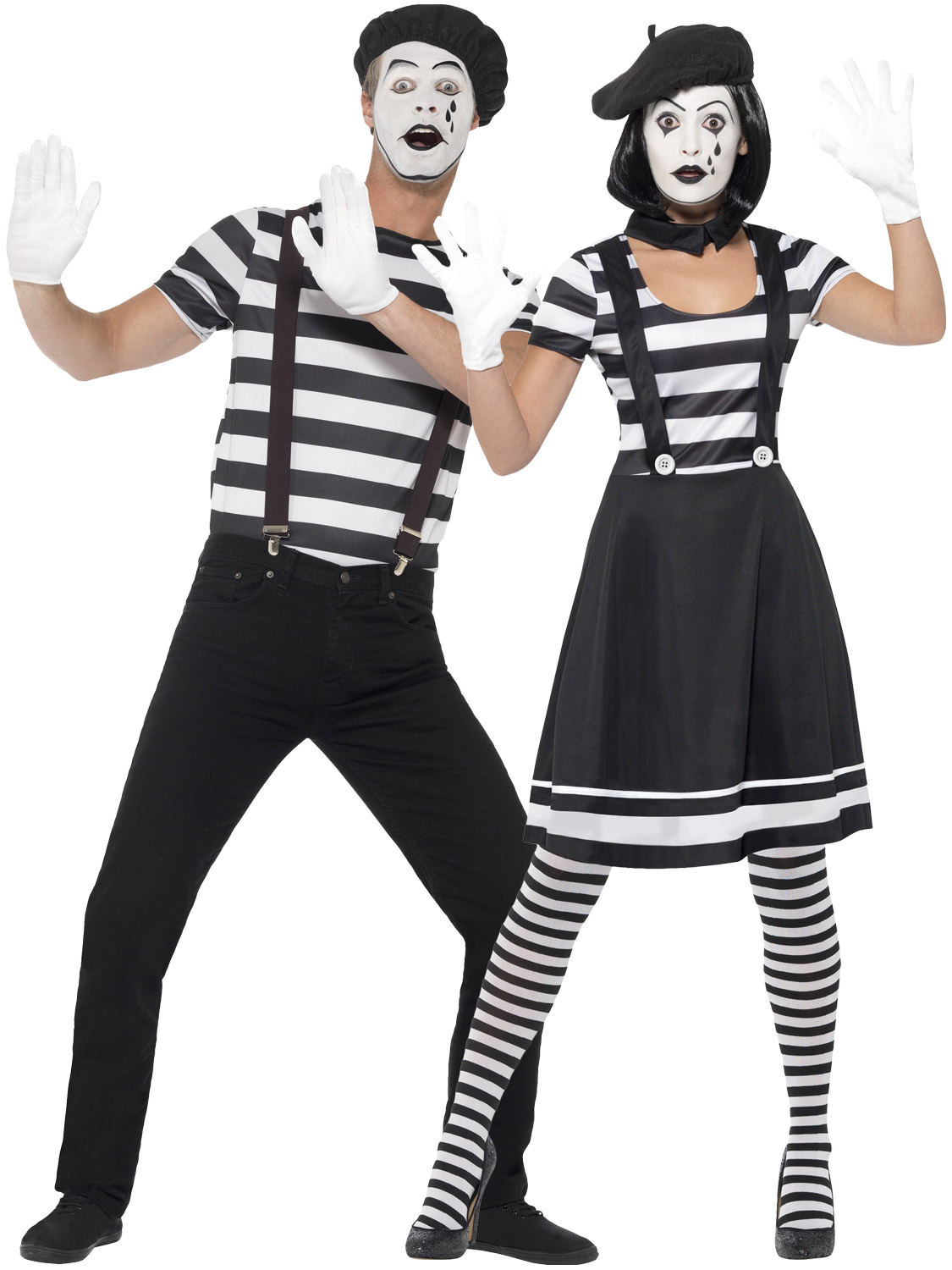 Adults Mime Artist Fancy Dress Mens La S French Circus