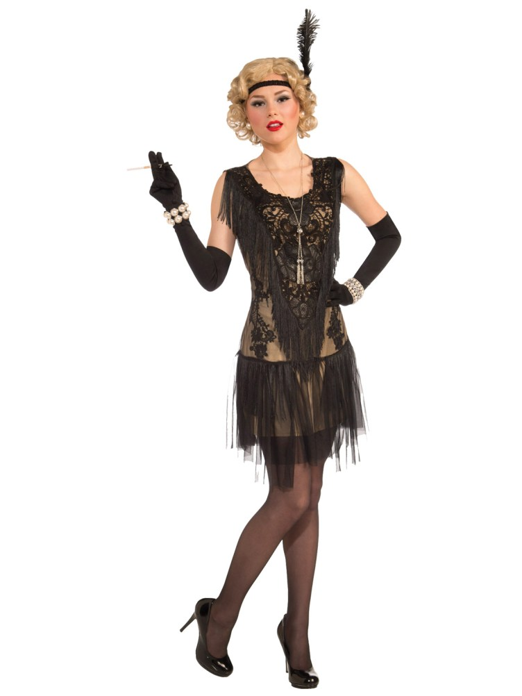 Ladies Deluxe Flapper Costume Womens 1920s Great Gatsby ...