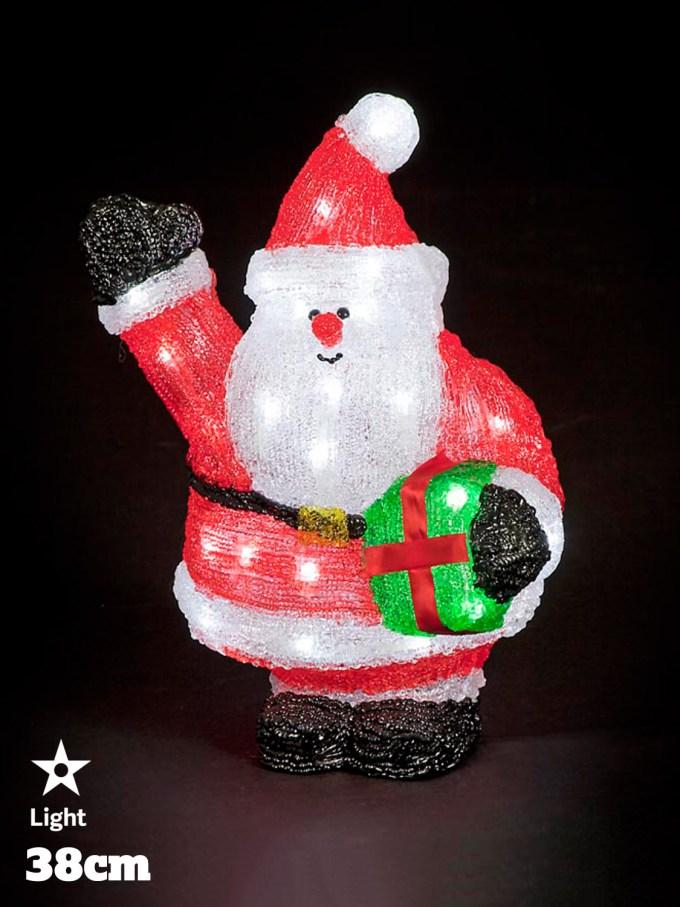 led acrylic figures christmas decorations light up santa snowman