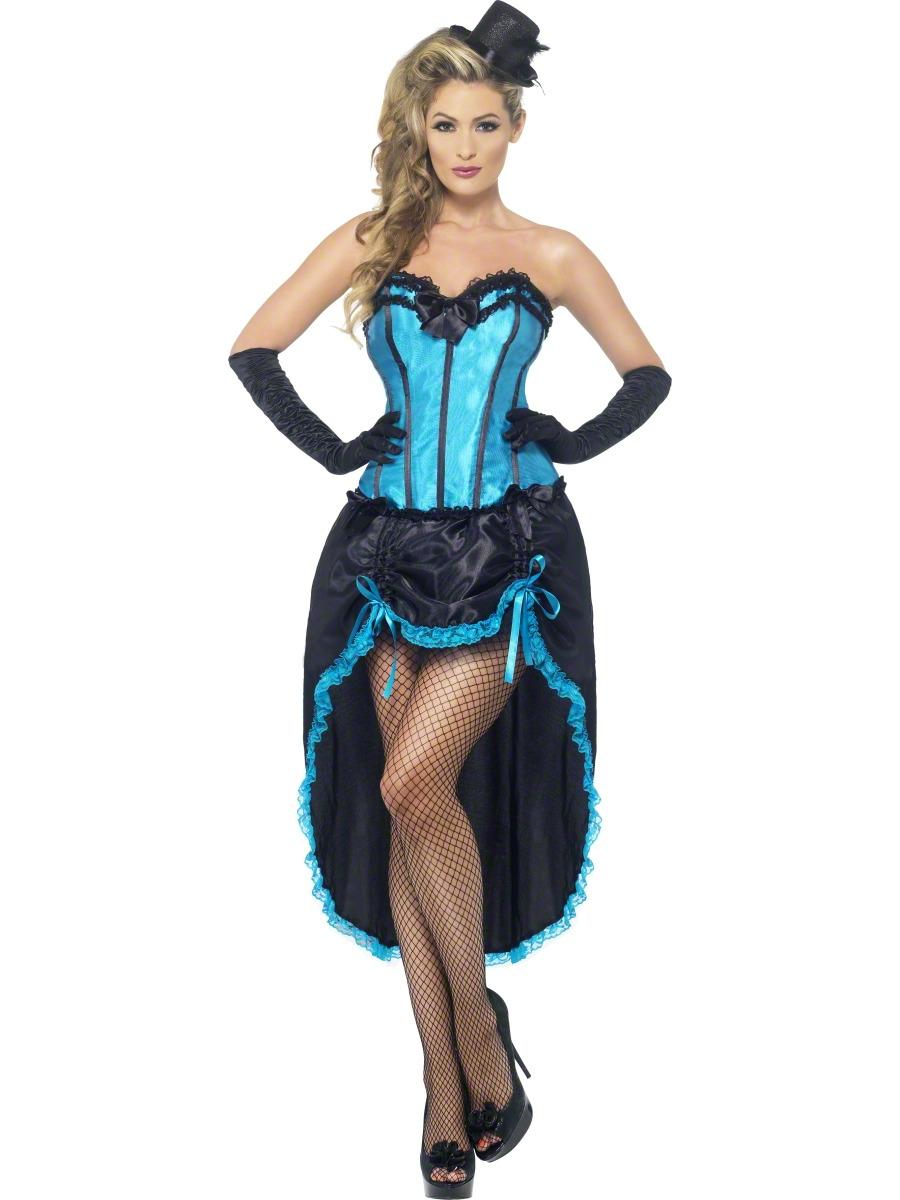 Burlesque Dancer Tights Ladies Fancy Dress Moulin Rouge