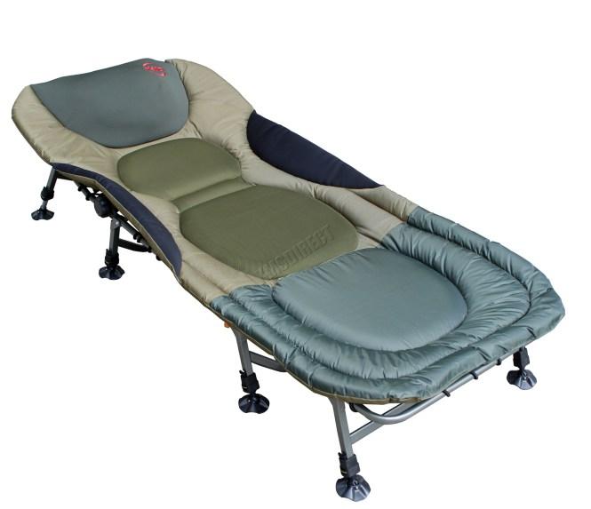 Sentinel Carp Fishing Bed Chair Bedchair Camping Heavy Duty 8 Adjule Legs Fb 022 New