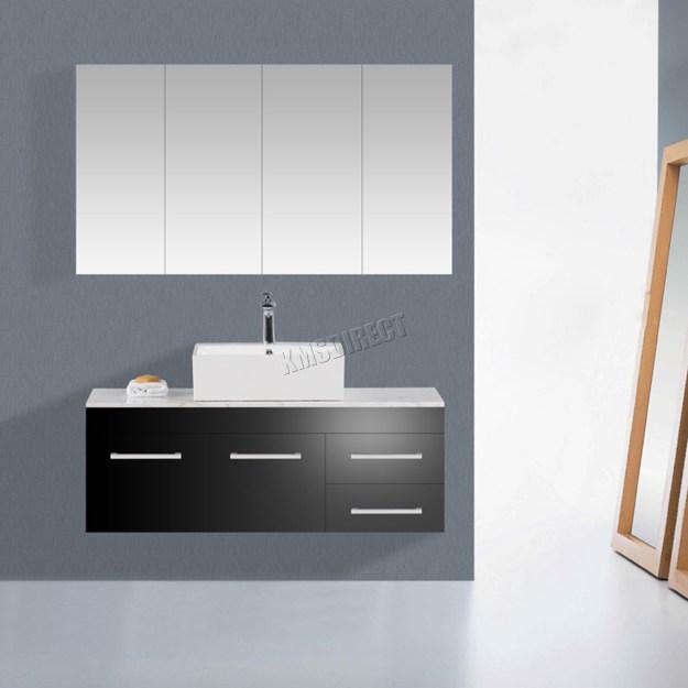 westwood wall mount mirror bathroom cabinet unit storage cupboard w