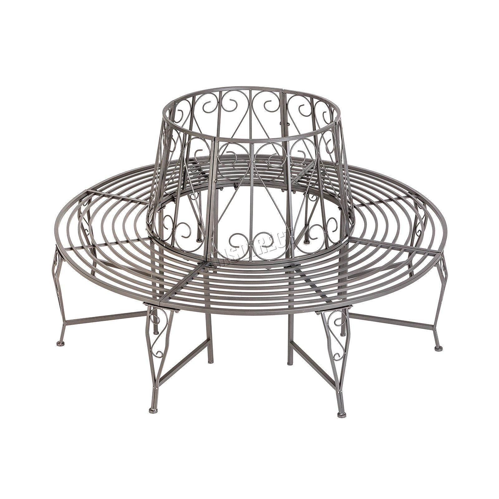 Westwood Outdoor Garden Tree Bench Round Circular Steel