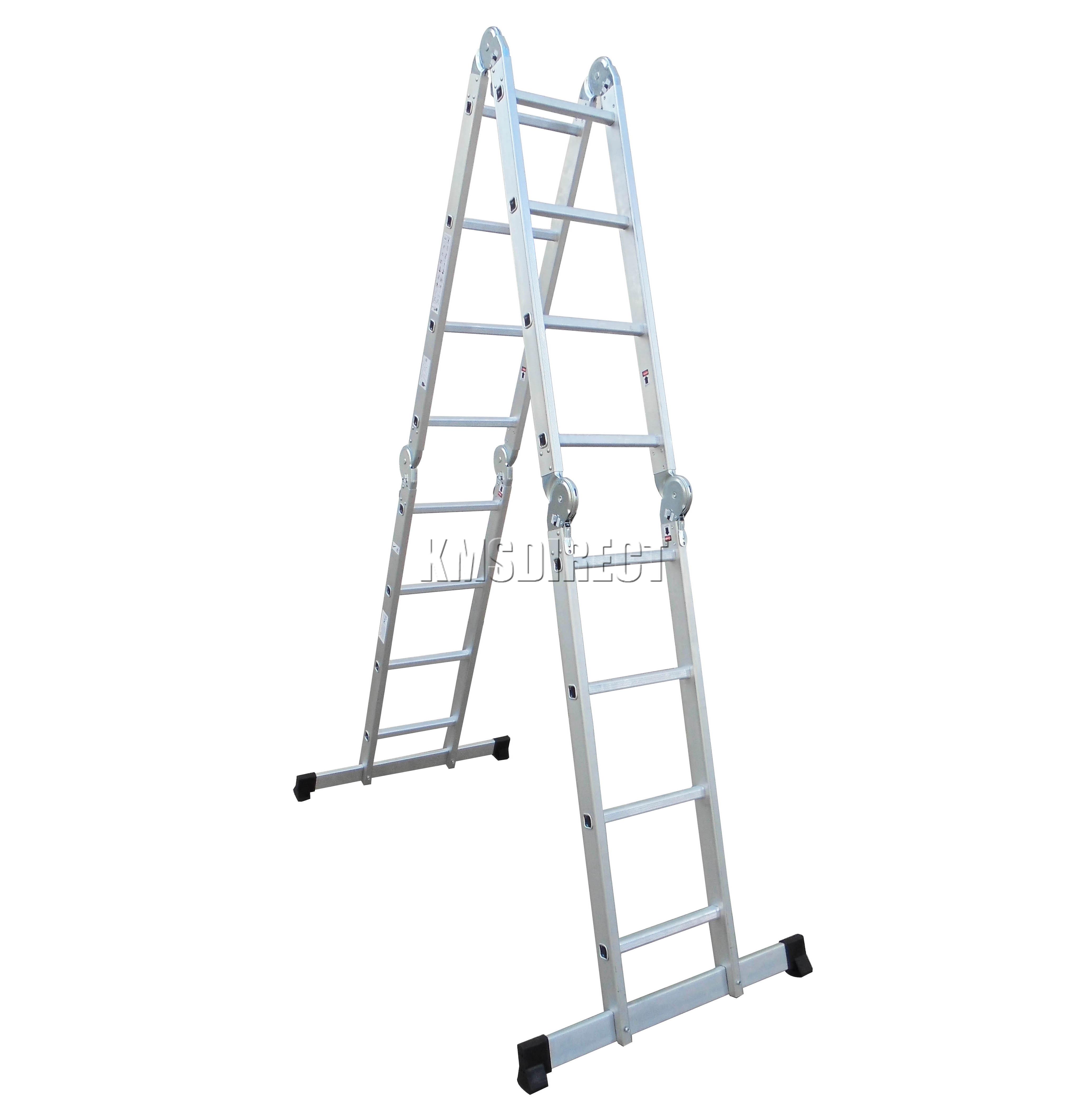 4 75m Multi Purpose Aluminium Extension Ladder Platform