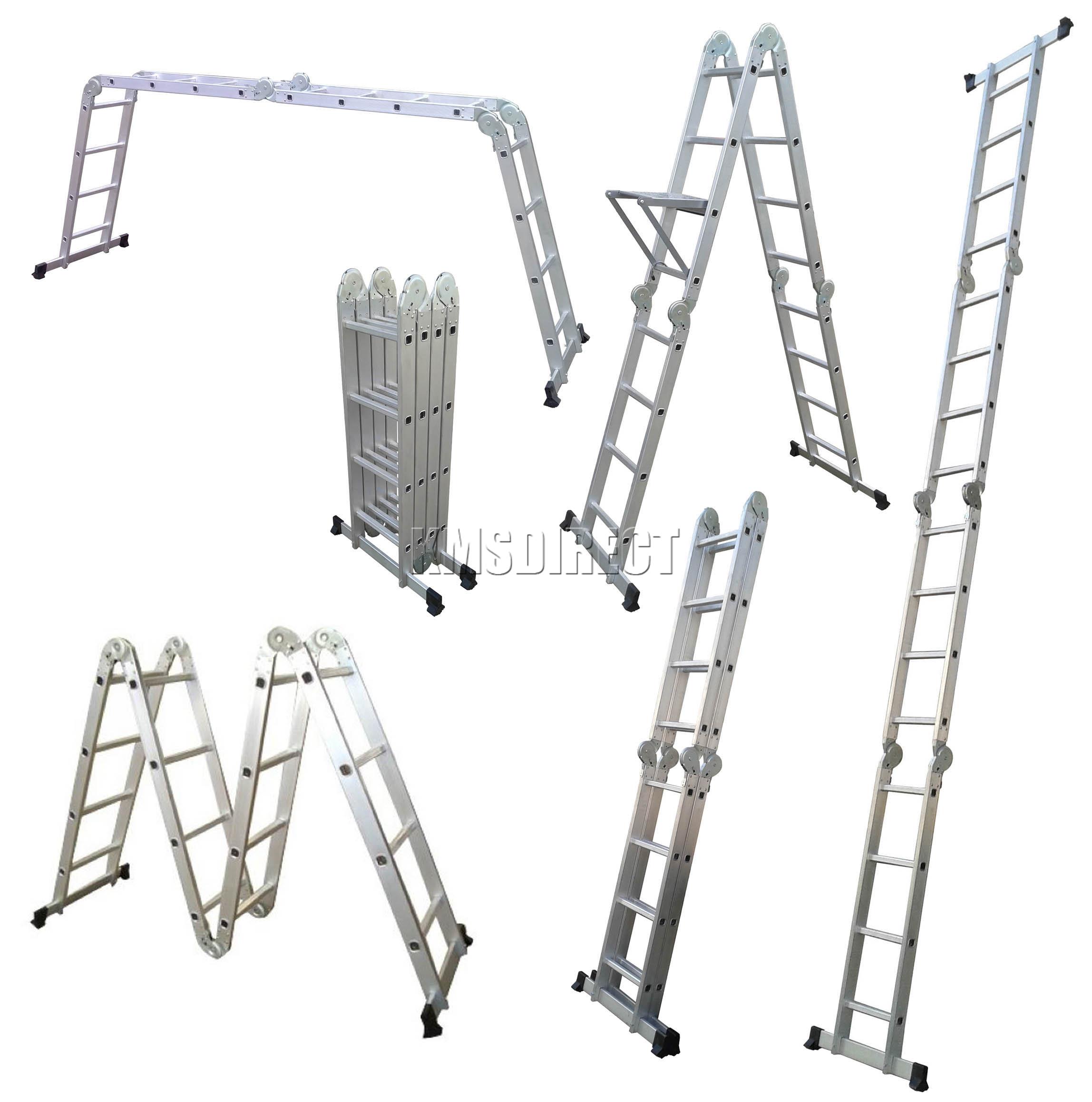 4 75m Multi Purpose Aluminium Extension Scaffold Ladder