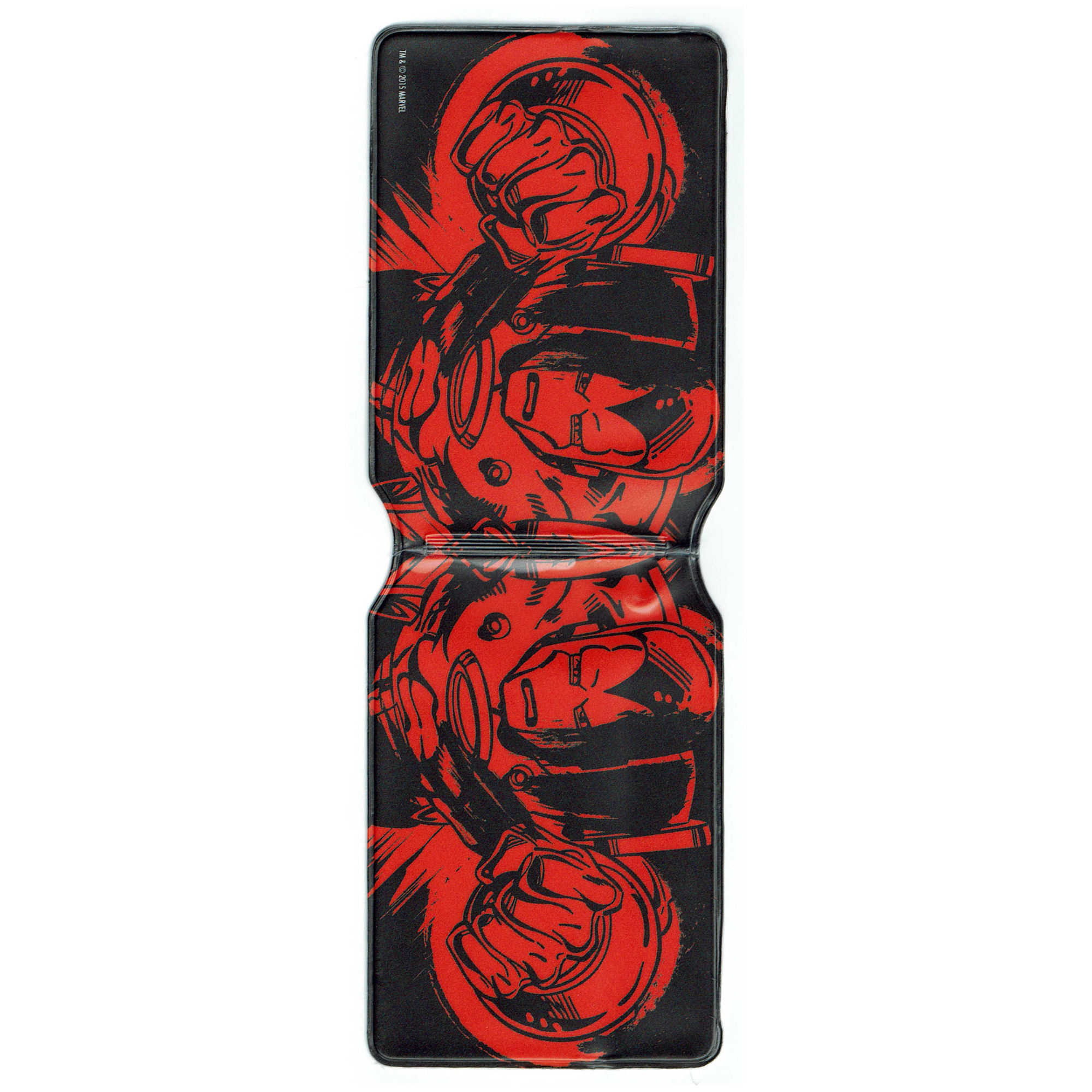 Iron Man Black On Red Oyster Travel Card Holder Bus Train