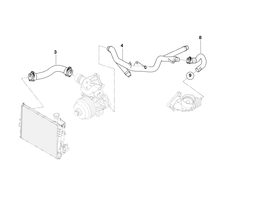 Bmw Genuine Cooling System Water Hose Pipe E39 E46 E53