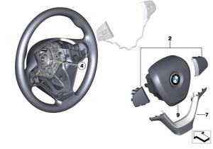 BMW Genuine Steering Wheel Cover F25 X3 32306798537