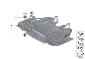 MINI Genuine Engine Underbody Shield Panel Underbon Screen Front 51712755054 | eBay