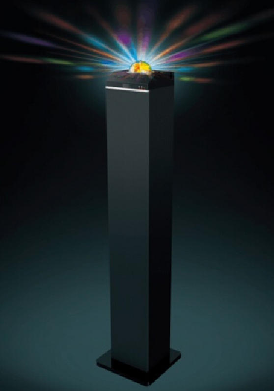 Intempo Bluetooth Tower Speaker With Disco Light Speakers Intempo