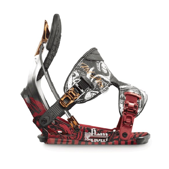Flow NXT ATSE Snowboard Binding 2012 in Red Bronze Size Medium