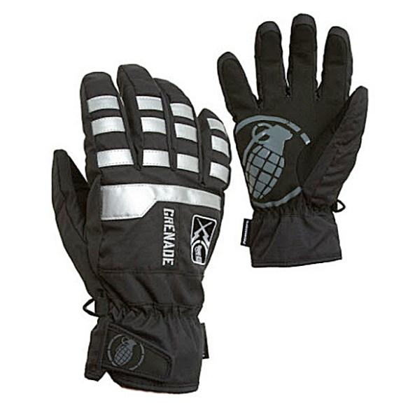 Grenade Fragment Snowboard Ski Gloves 2011 in Black