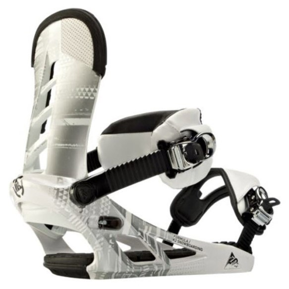 K2 Formula Snowboard Bindings 2012 in White