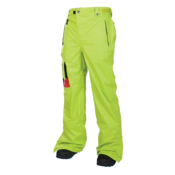 686 Snaggletooth Mens Insulated Snowboard Pants Acid 2014