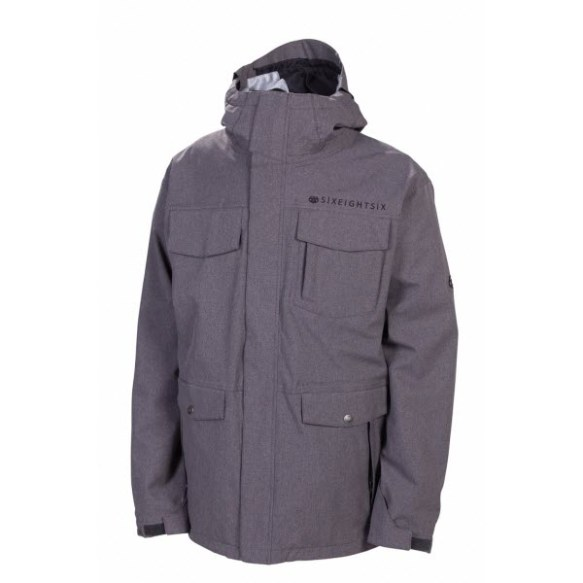 686 Smarty Command Mens Snowboard Jacket Gunmetal Texture 2013
