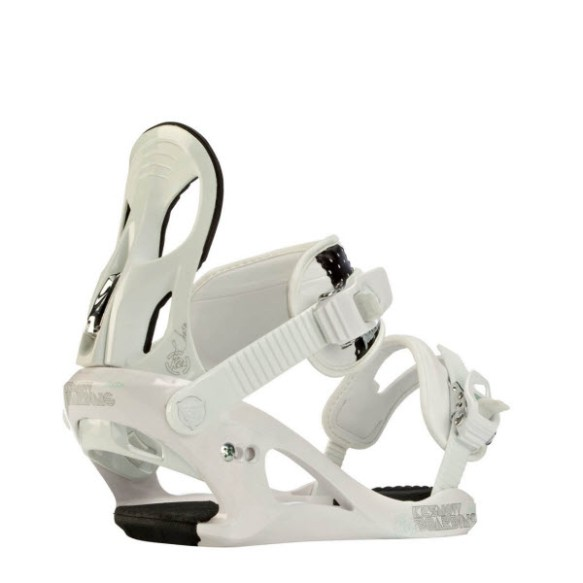 K2 Charm Womens Snowboard Bindings 2012 in White Small