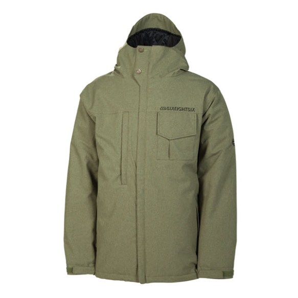 686 Mannual Legacy Mens Snowboard Jacket Army Texture New 2014