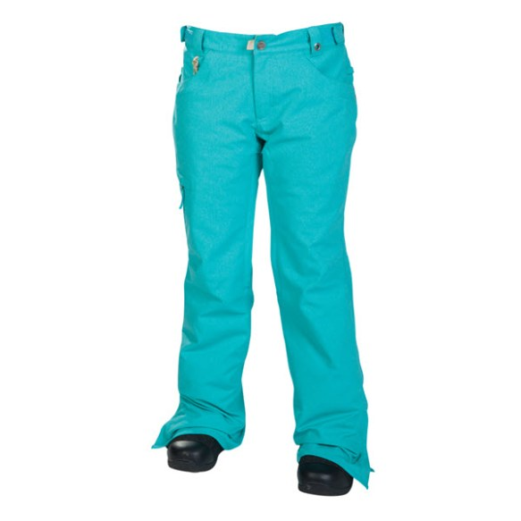 686 Mannual Patron Insulated Womens Snowboard Pants Turquoise Texture 2014