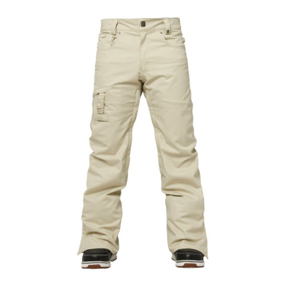 686 Authentic Prospect Mens Snowboard Pants New Putty Pincord 2015 Sample Large