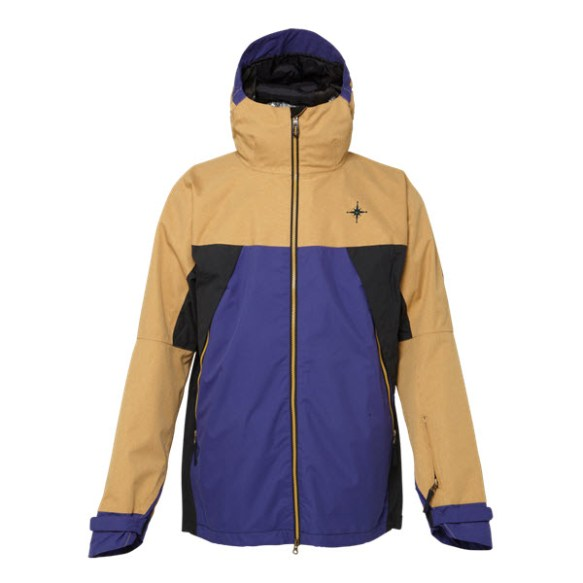 686 Forest Bailey Cosmic Snowboard Jacket Camel Colorblock Large Sample 2015