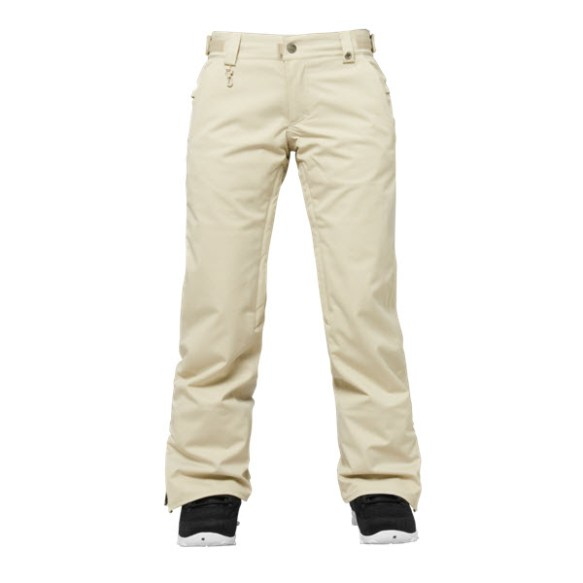686 Authentic Concept Womens Snowboard Pants Putty Pincord Medium Sample 2015