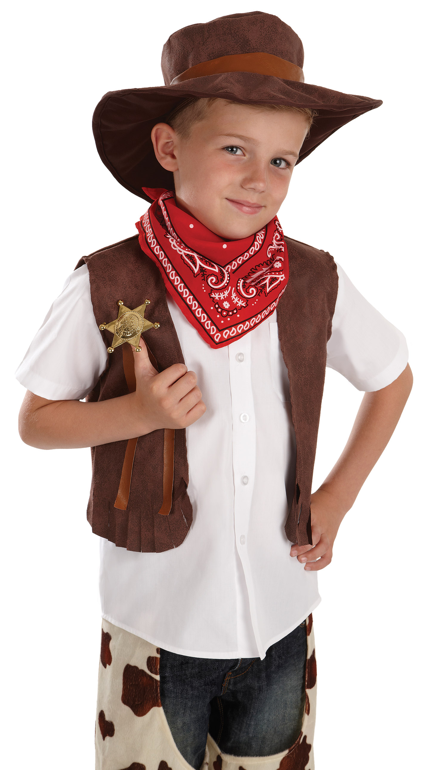 Boys Cowboy Costume For Wild West Fancy Dress Kids Childrens