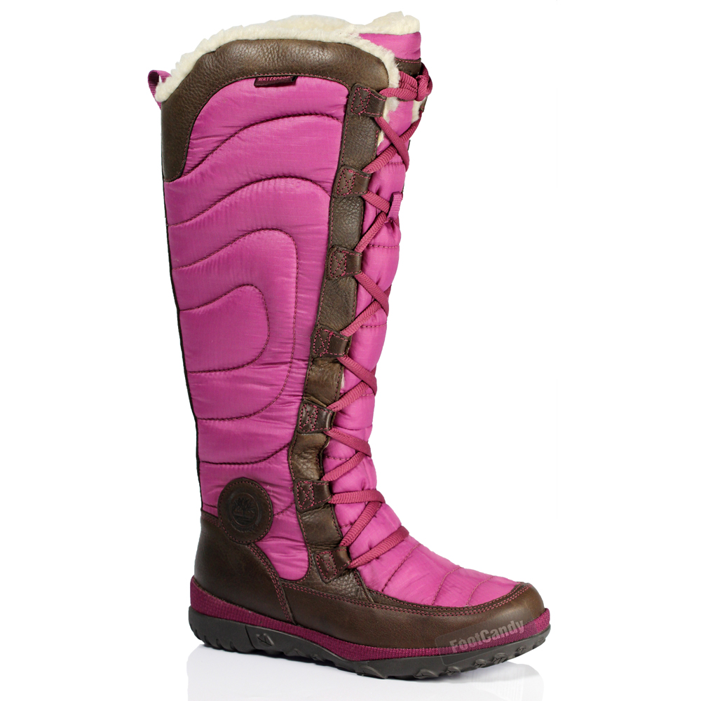 Brown Trim Fur Boots Suede