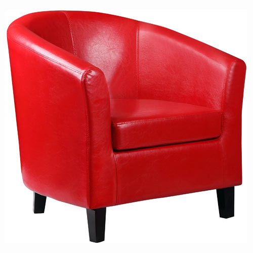 Red And Cream Armchair
