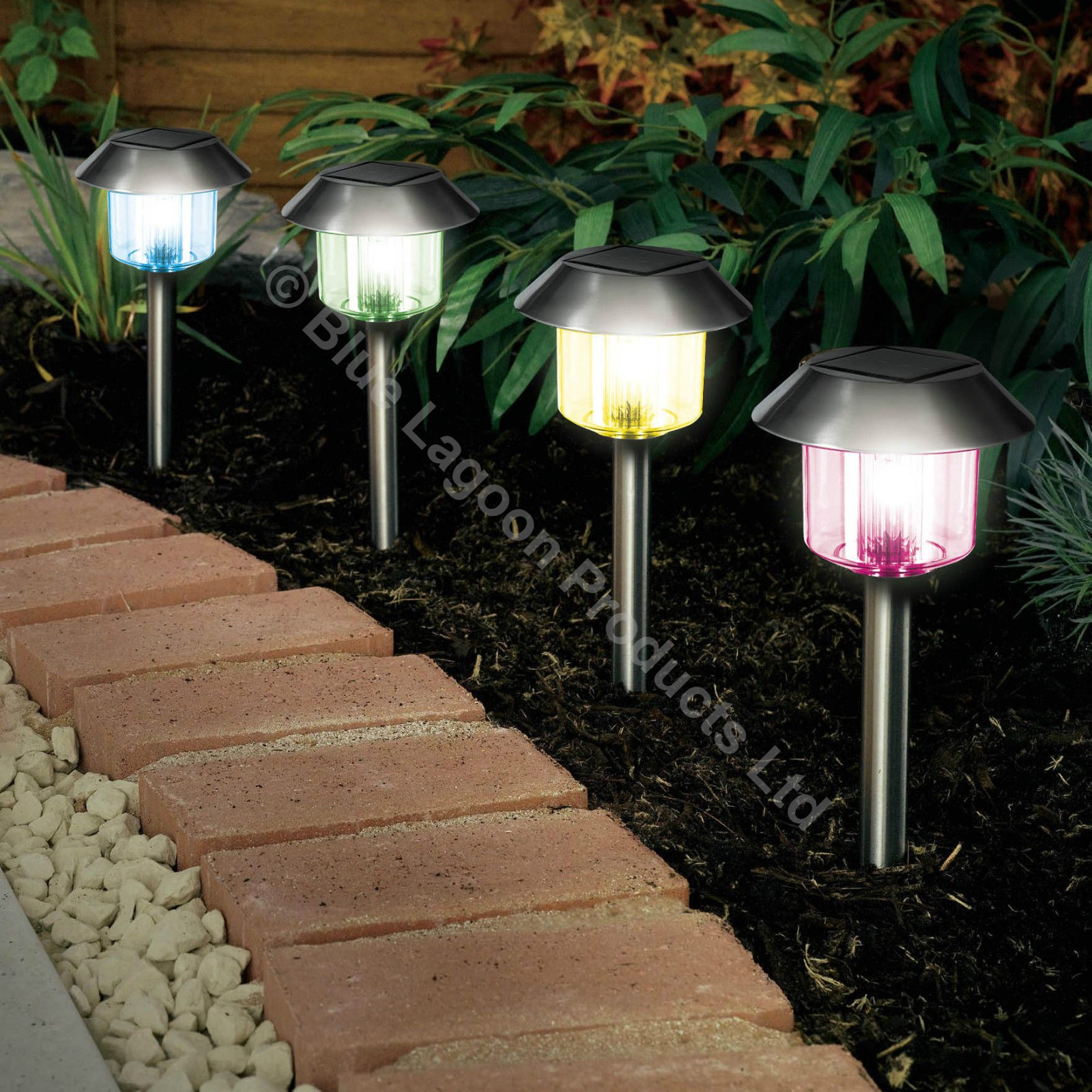 Sentinel 12 X Colour Changing Solar Power Light Led Post Outdoor Lighting Powered Garden