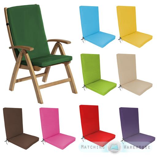 Garden Recliner Chair Cushions