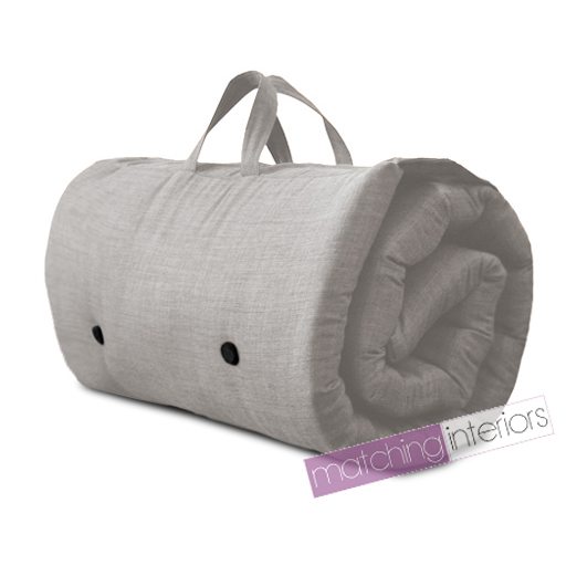Grey Travel Guest Sleepover Single Mattress Roll Up Futon Z Bed Gap Year Student