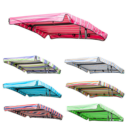 details about stripes replacement canopy for swing seat garden hammock 2 3 seater size cover