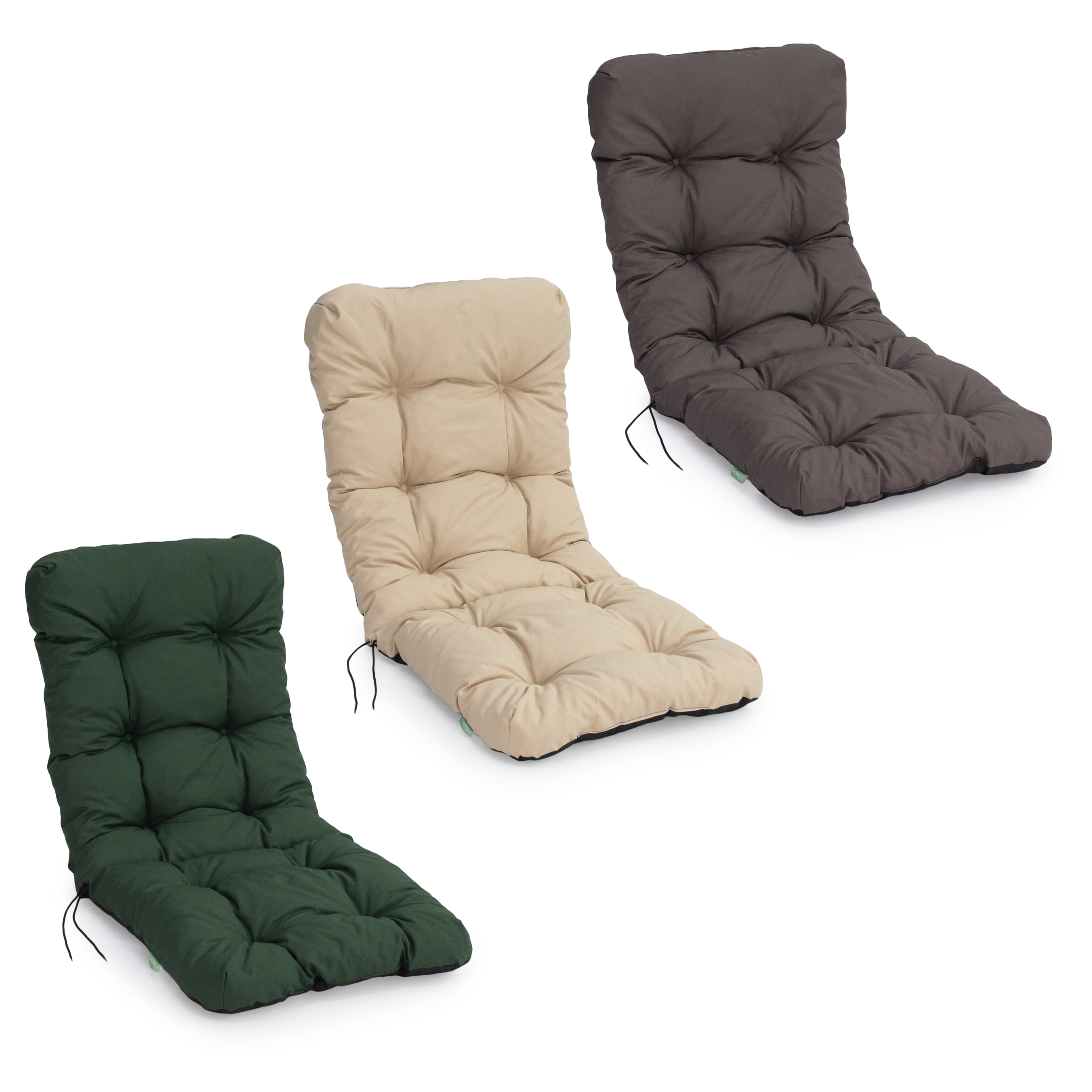 details about tufted padded outdoor high back chair cushions patio water resistant dining pads