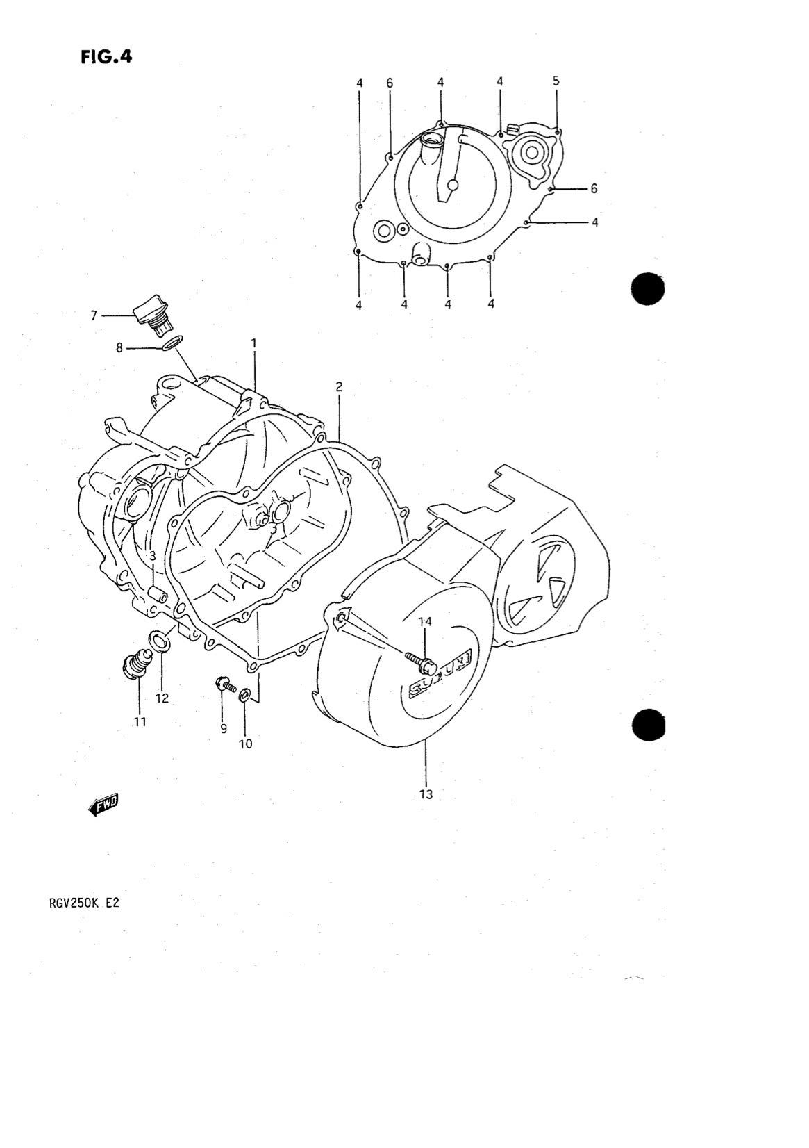 Suzuki Genuine Rgv250 K L Crankcase Cover Oil Drain Plug