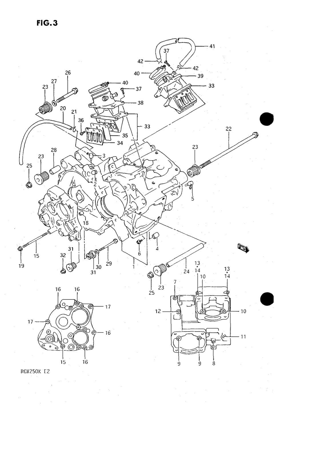 Suzuki Genuine Rgv250 K L Crankcase Clamp