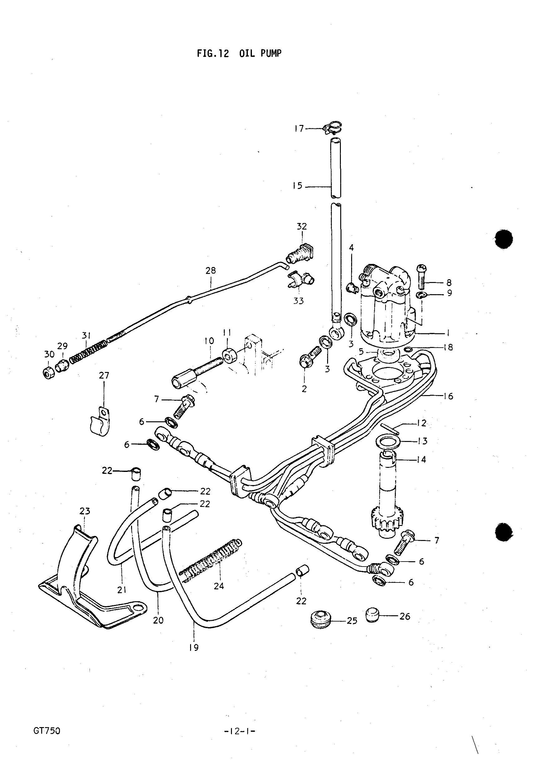 Genuine Suzuki Gt750 J M Oil Pump Nut
