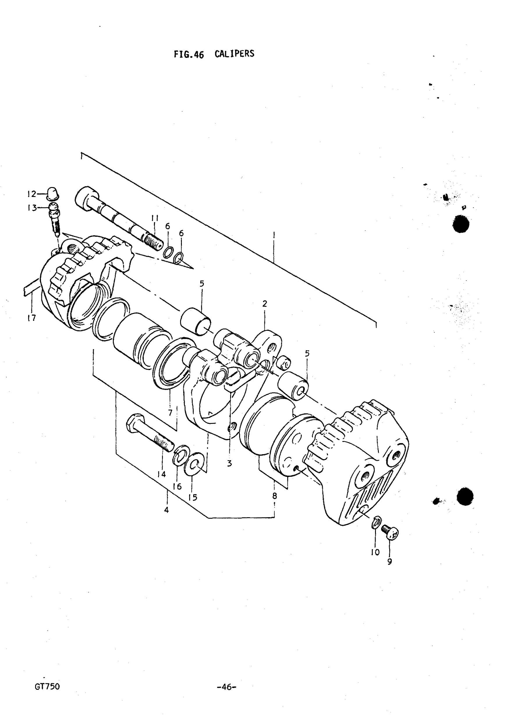 Genuine Suzuki Gt750 J M Caliper Piston Amp Seal