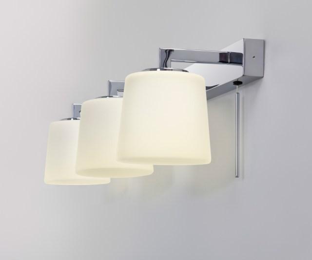 Astro Triplex bathroom mirror wall light 3 x 40W G9 switch chrome