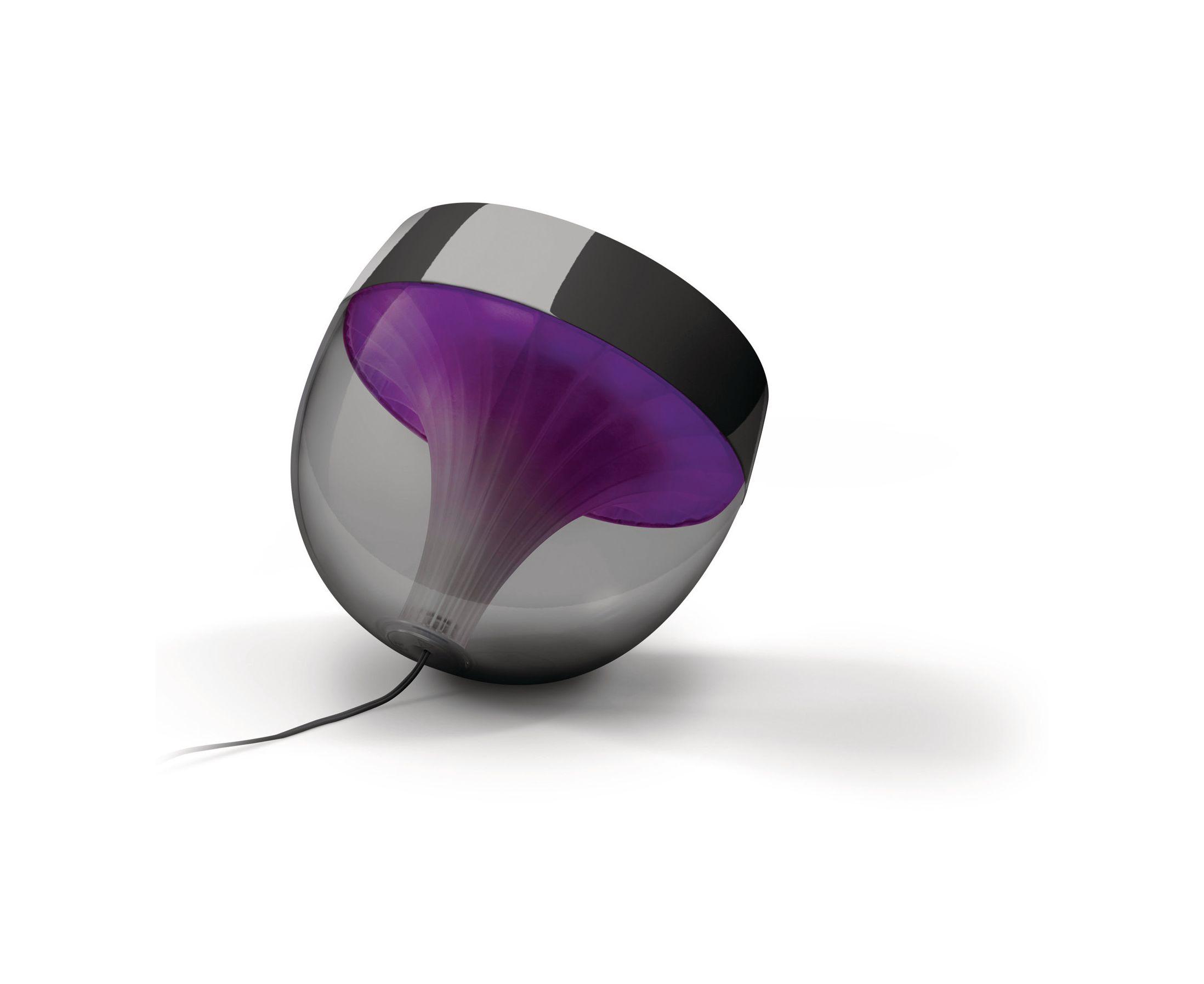 Philips LivingColors Iris LED Colour Changing Table Lamp Black Remote Control Liminaires