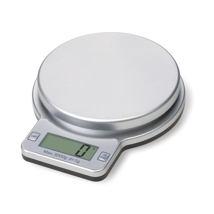 Premier Silver 3kg Kitchen Electronic Weighing Food Cooking Scales New