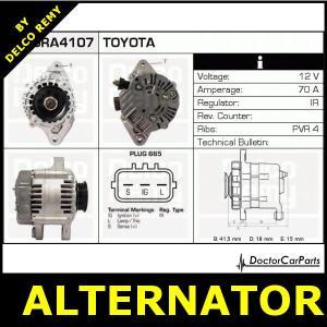 Alternator Toyota Yaris VersoYarisVitz DRA4107 | eBay