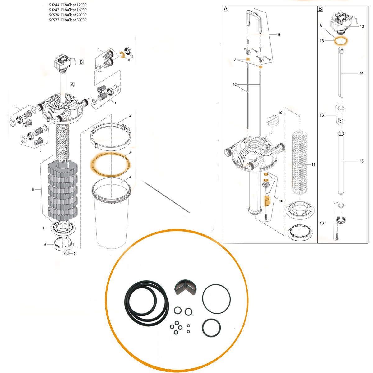 Genuine Oase Replacement Gasket Filtoclear