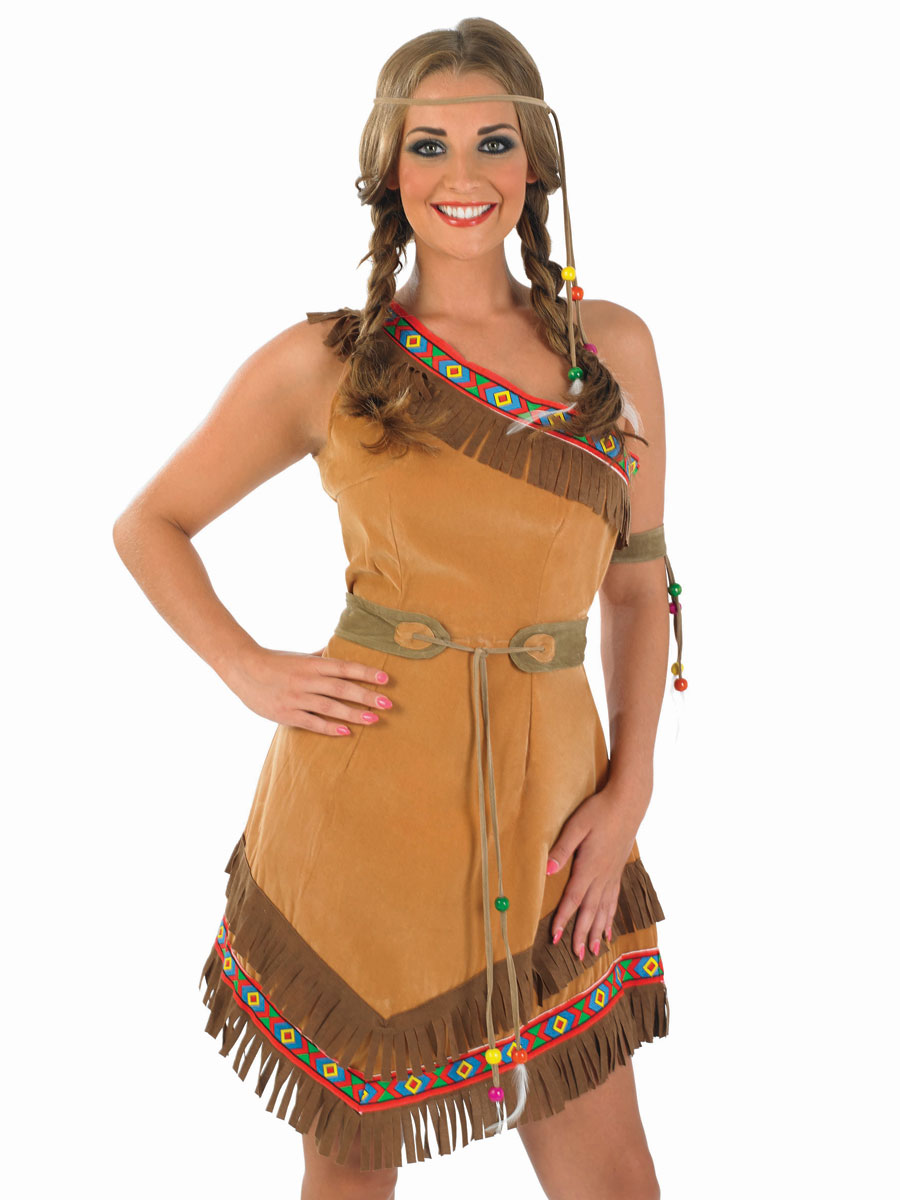 Indian Squaw Ladies Fancy Dress Hen Party Costume Outfit ...