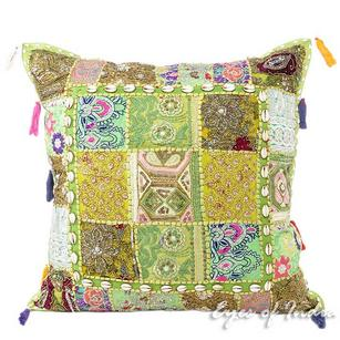 Suzani Embroidered Pillow Cover Indian Decorative Cushion