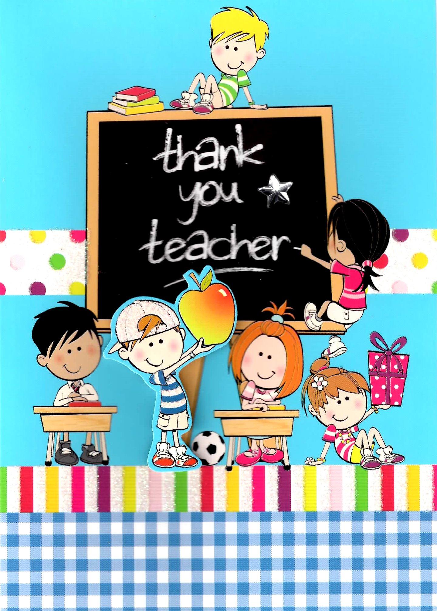 Cute 3D Thank You Teacher Greeting Card Cards Love Kates