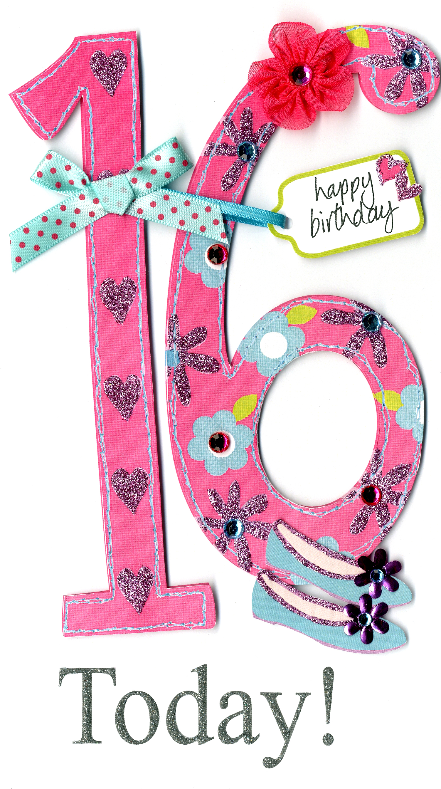 Gorgeous 16th Age 16 Birthday Greeting Card Cards Love