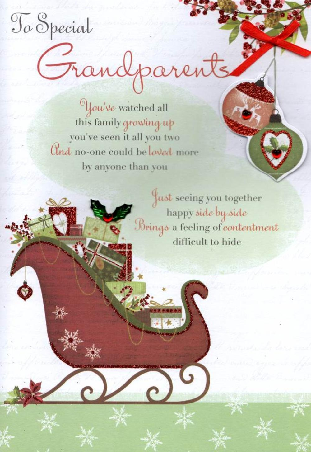 To Special Grandparents Christmas Greeting Card Cards